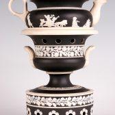Veilleuse-théière, vers 1820. Manufacture de Sarreguemines