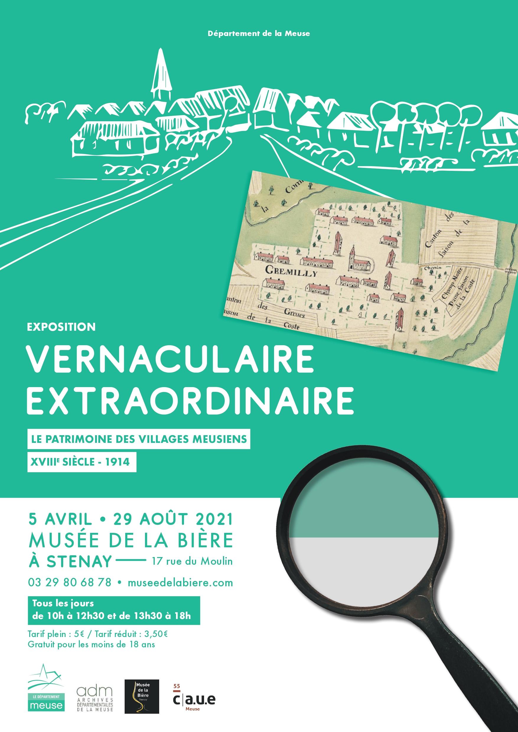 Affiche de l'exposition Vernaculaire Extraordinaire